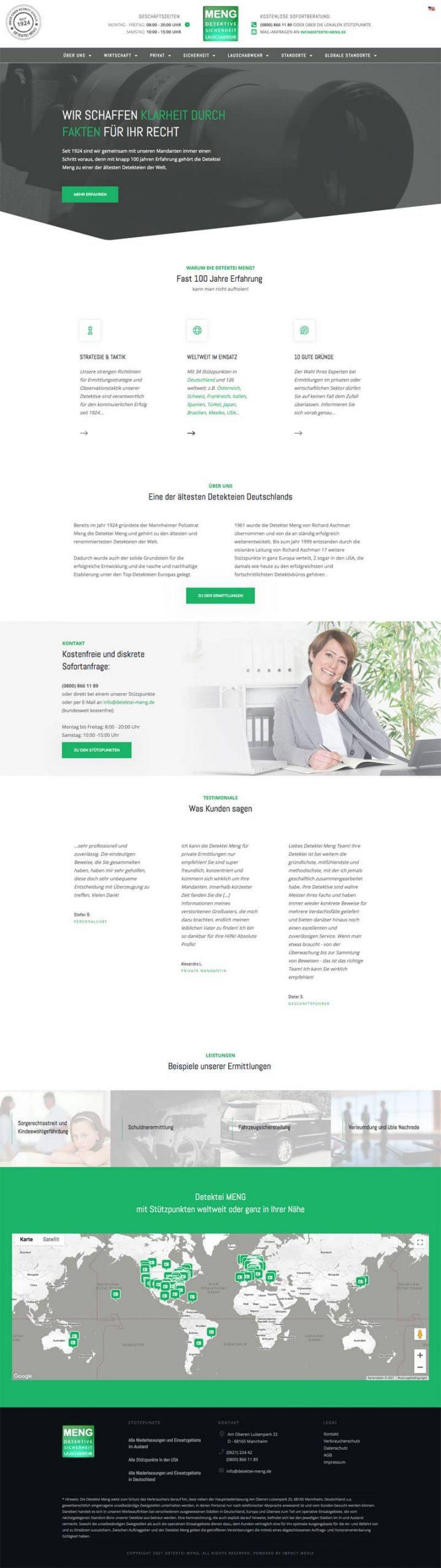 Screenshot der Website detektei-meng.de