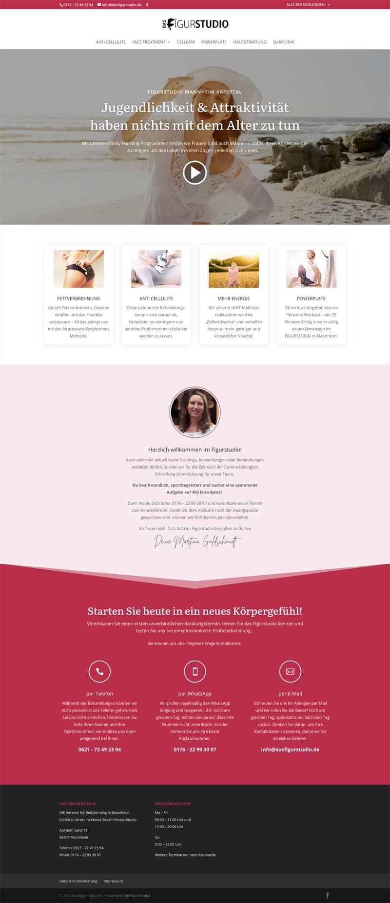 Screenshot der Website dasfigurstudio.de